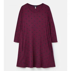 212817 Elora Long Sleeve Jersey Swing Tunic dk.purple/12