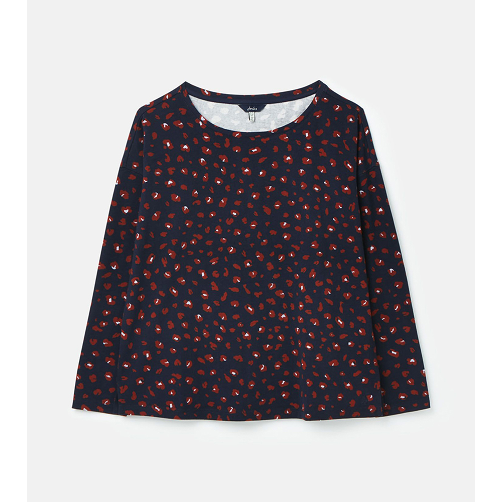 212932 Marina Print Dropped Shoulder Jersey Top NAVY/12