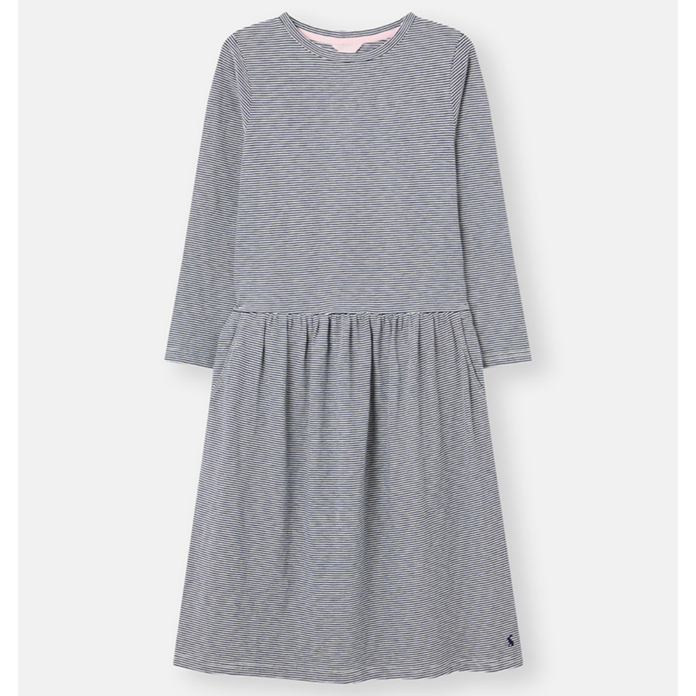 Joules Bernadette Low Gathered Waist Jersey Dress
