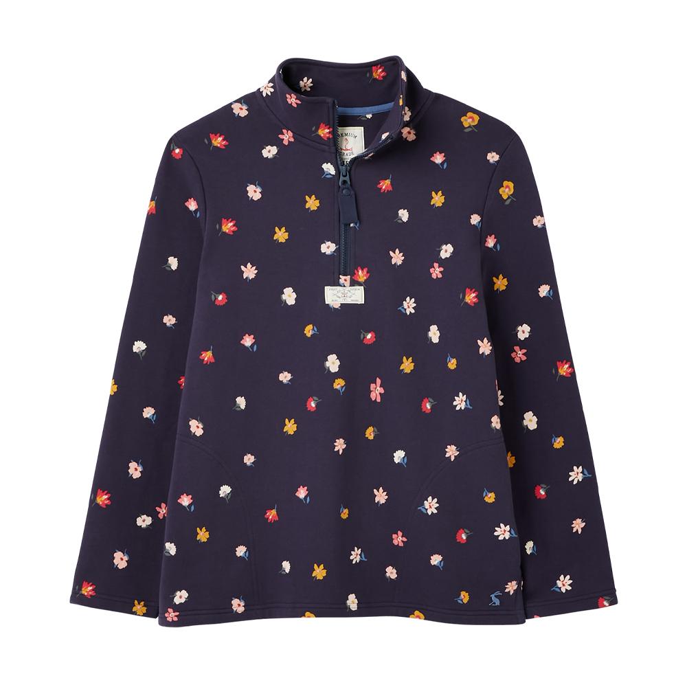 Joules Pip Print Casual Half Zip Sweatshirt