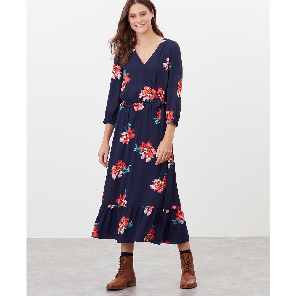 Joules Chloe Fixes Wrap Dress with Split