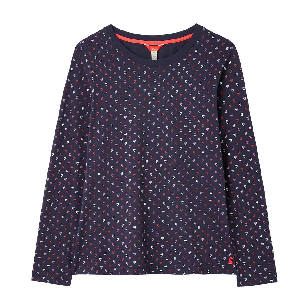 Joules Selma Print Long Sleeve Jersey Top