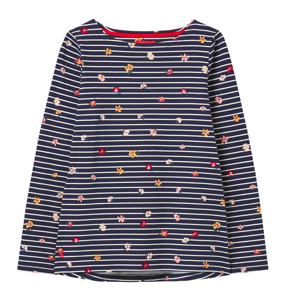 Joules Print Long sleeve Jersey Top