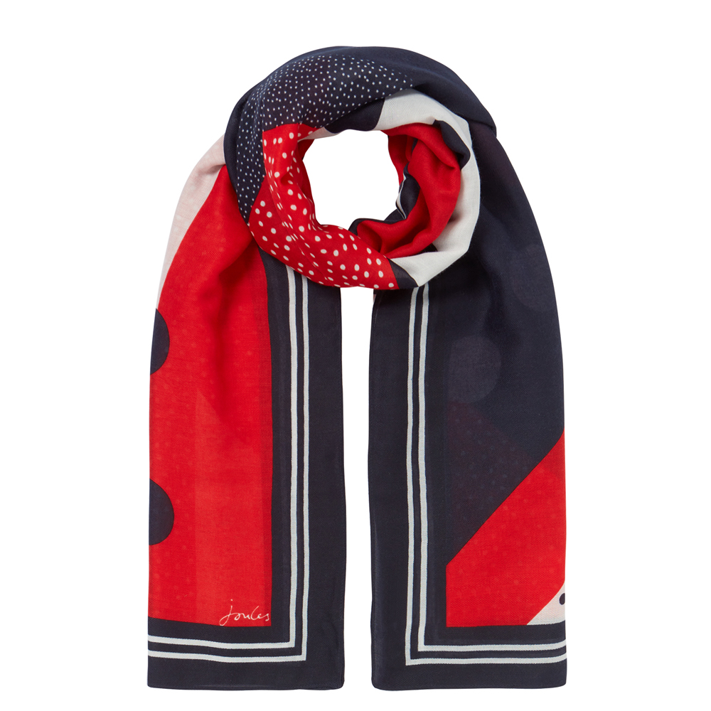 Joules River Printed Scarf