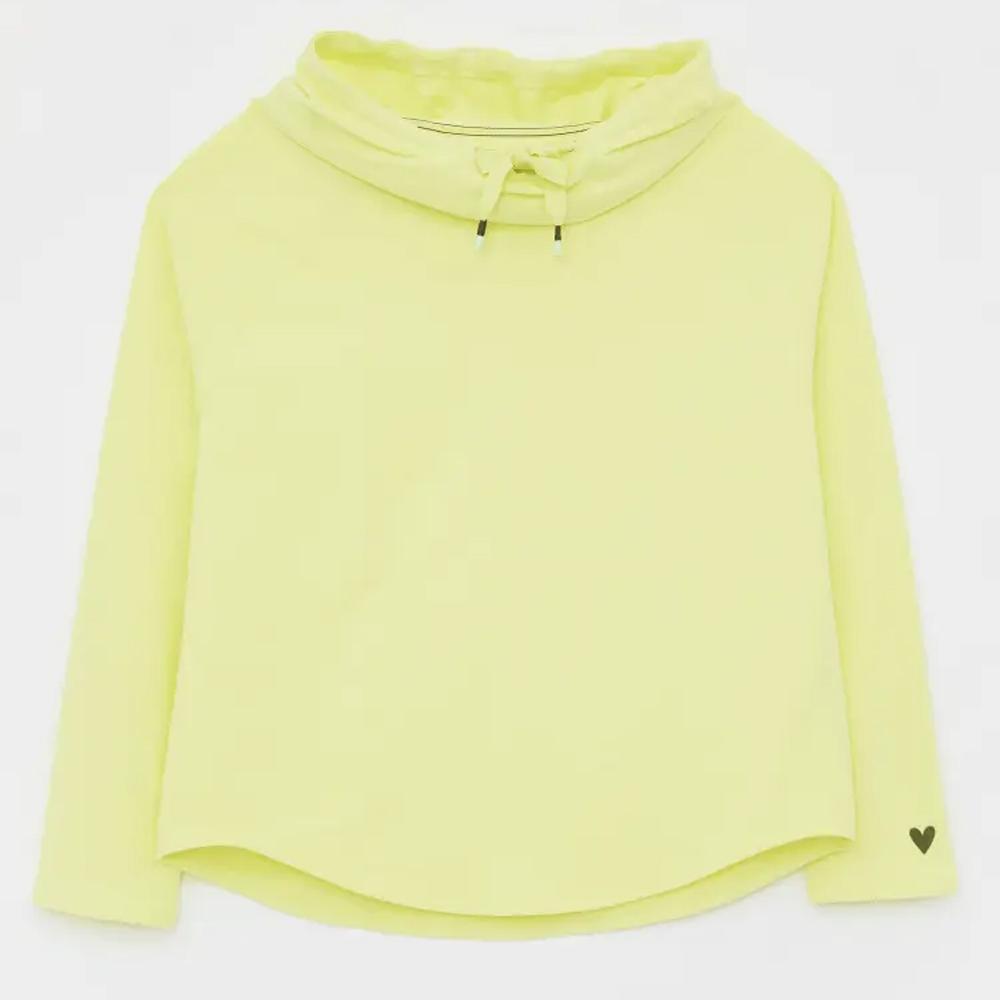Cowl Neck LS Sweat  Lgt Yellow/10