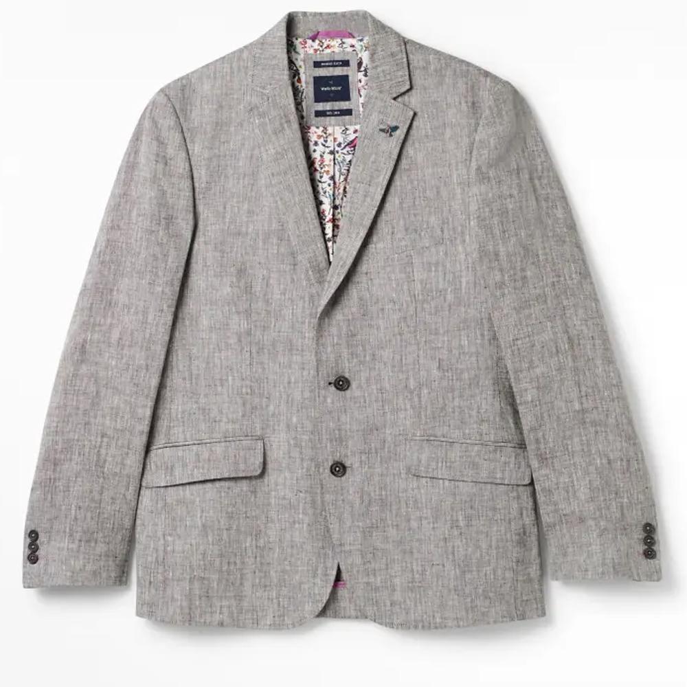 Northcote Linen Blazer Grey/40