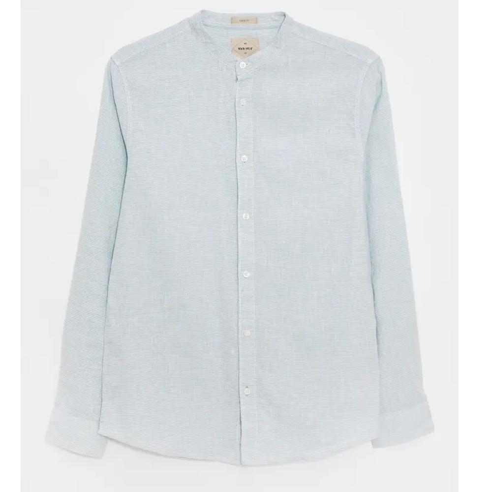 White Sruff Spacedye Grandad Shirt