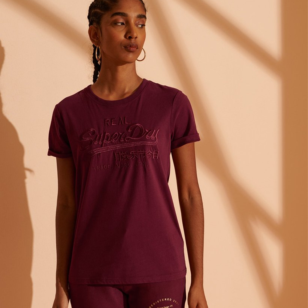 Superdry Vintage Logo Tonal Embroidered T-Shirt