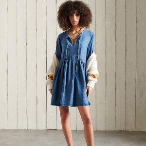 Superdry Long Sleeved Tencel Dress