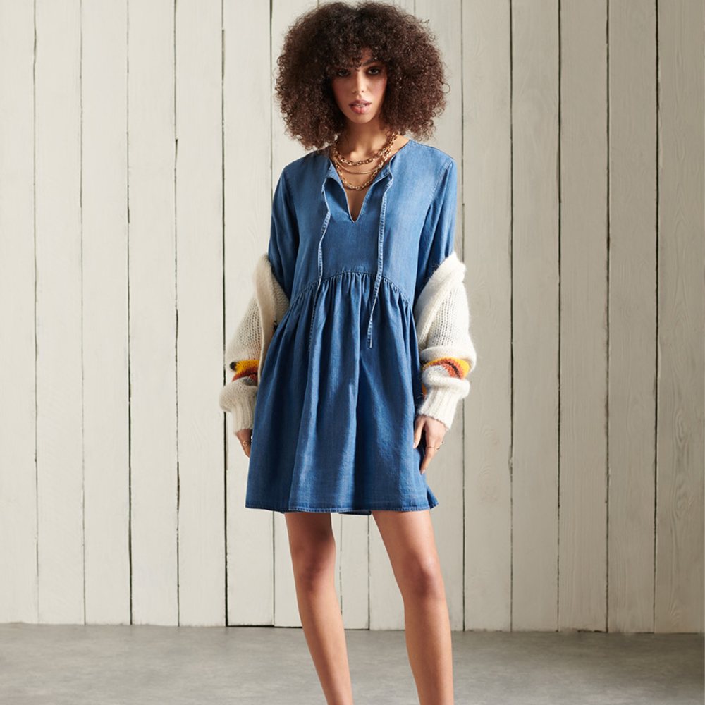 Superdry Long Sleeved Tencel Dress