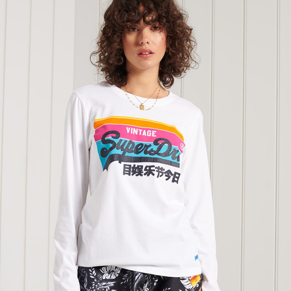 Superdry Vintage Logo Cali Long Sleeve Top