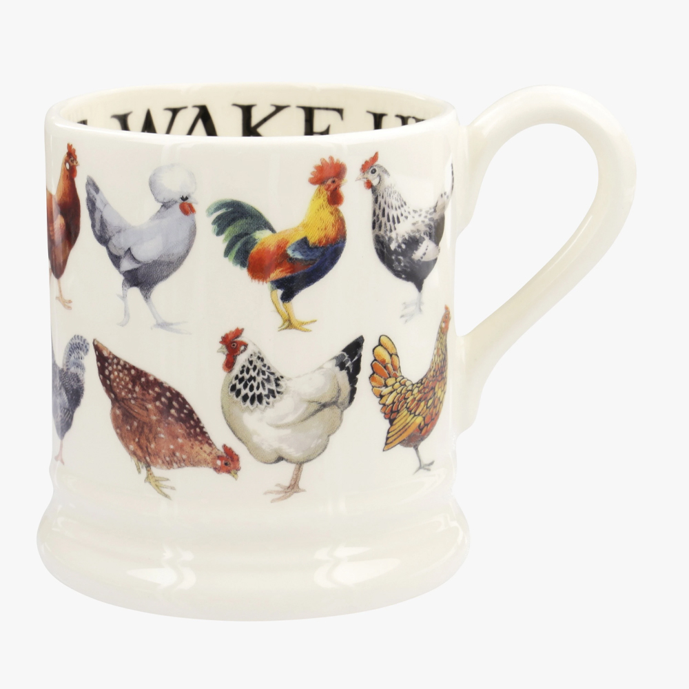 Emma Bridgewater Hen & Toast Row 1/2 Pint Mug