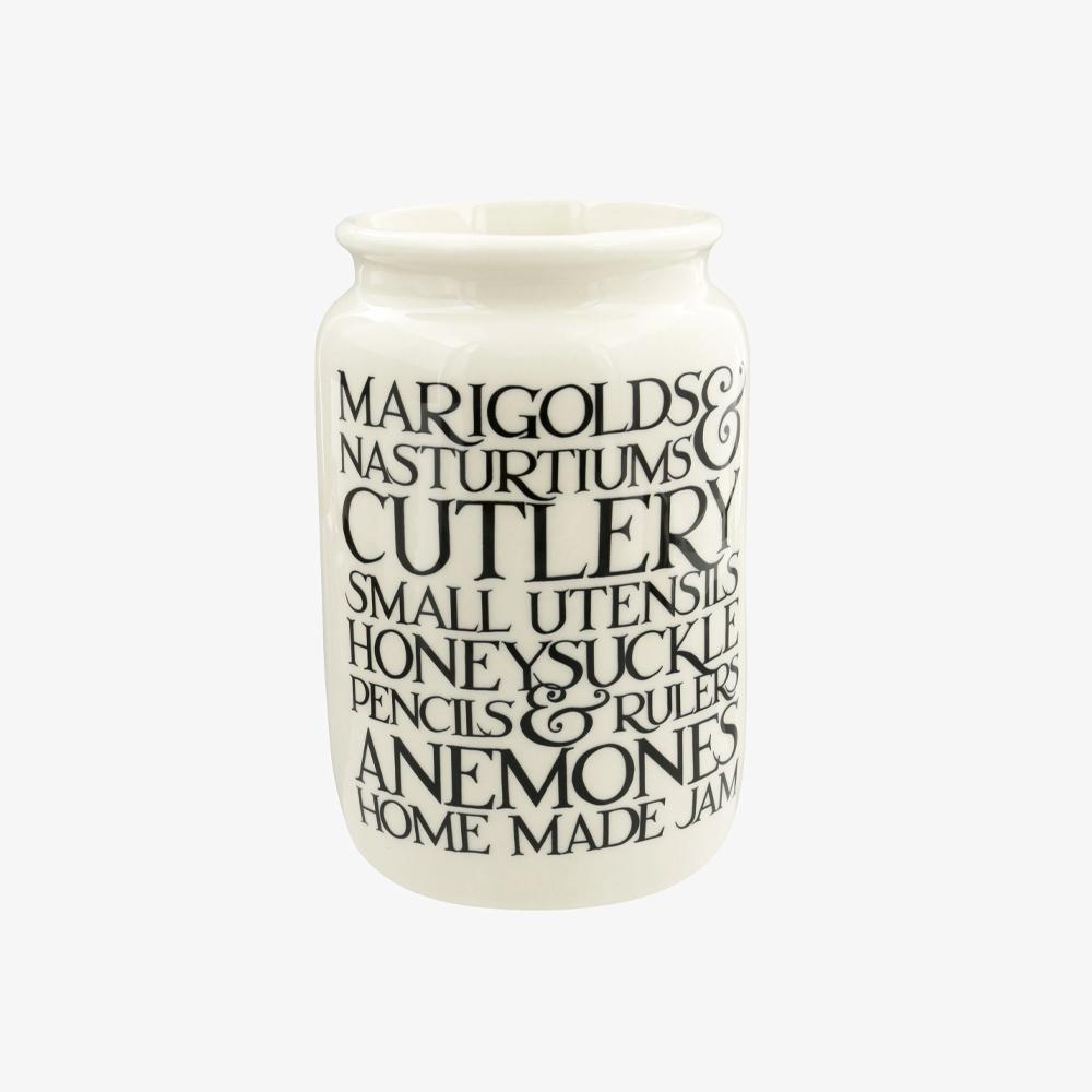 Emma Bridgewater Black Toast Marigolds & Nasturtiums Large Jam Jar