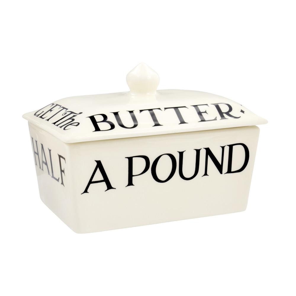 Emma Bridgewater Black Toast Half a Pound Small Butter Dish