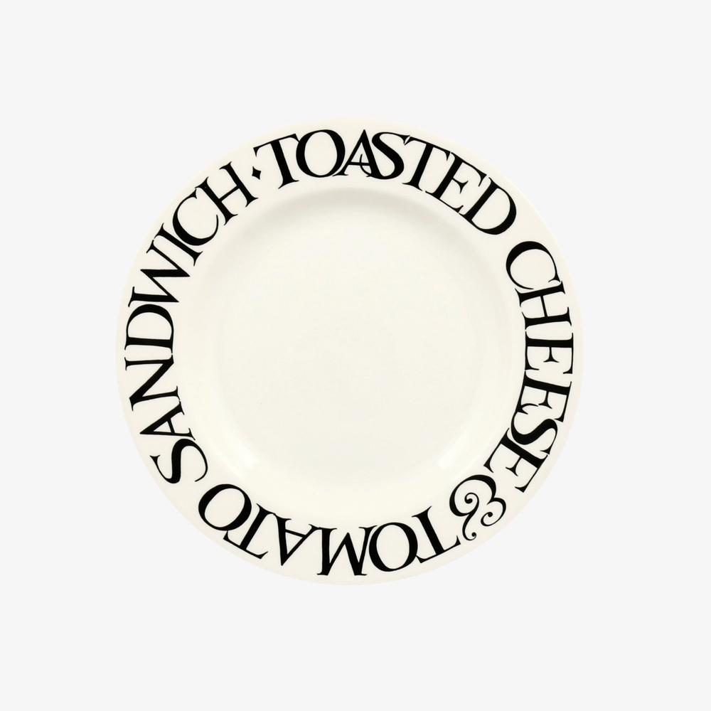 Emma Bridgewater Black Toast Cheese & Tomato 6 1/2 Inch Plate