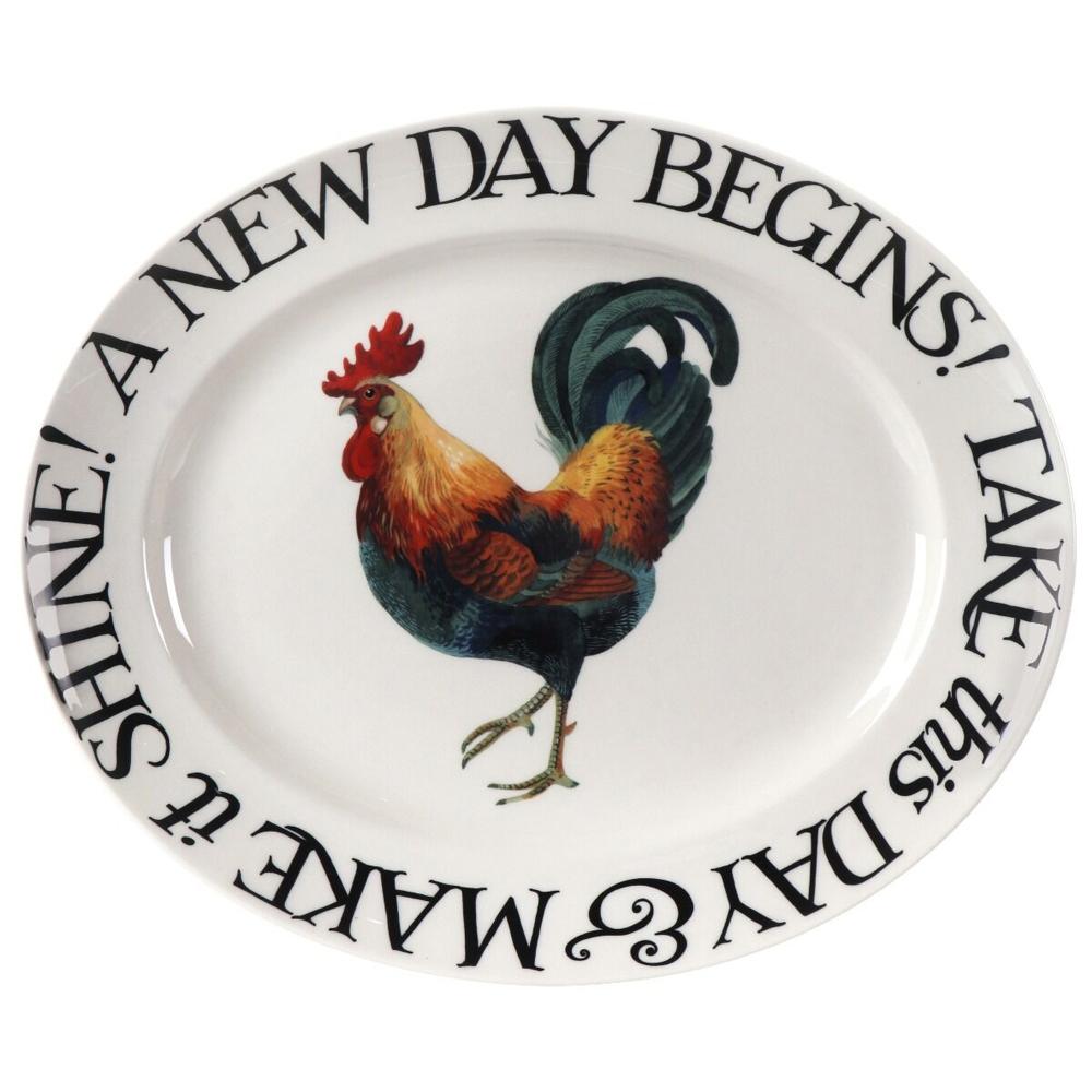 Emma Bridgewater Rise & Shine A New Day Begins Medium Oval Plate