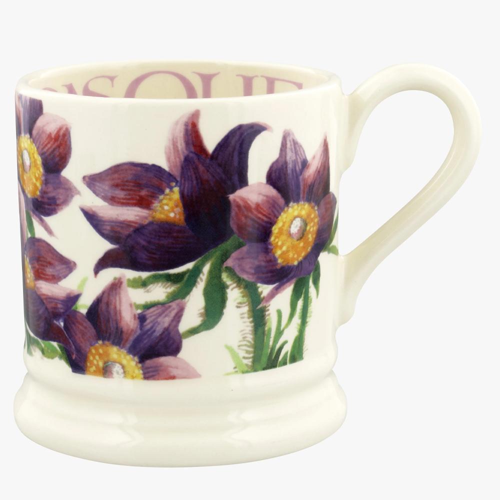 Emma Bridgewater Flowers Pasque Flower 1/2 Pint Mug
