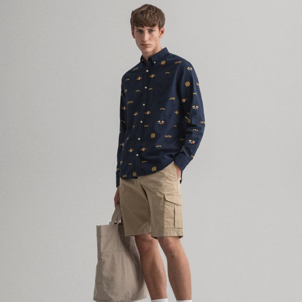 Gant Relaxed Fit Twill Utility Shorts