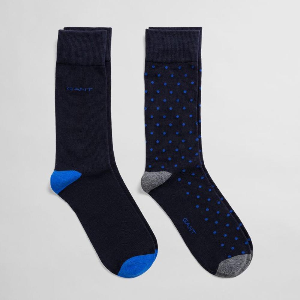 GANT 2-Pack Dot & Solid Socks