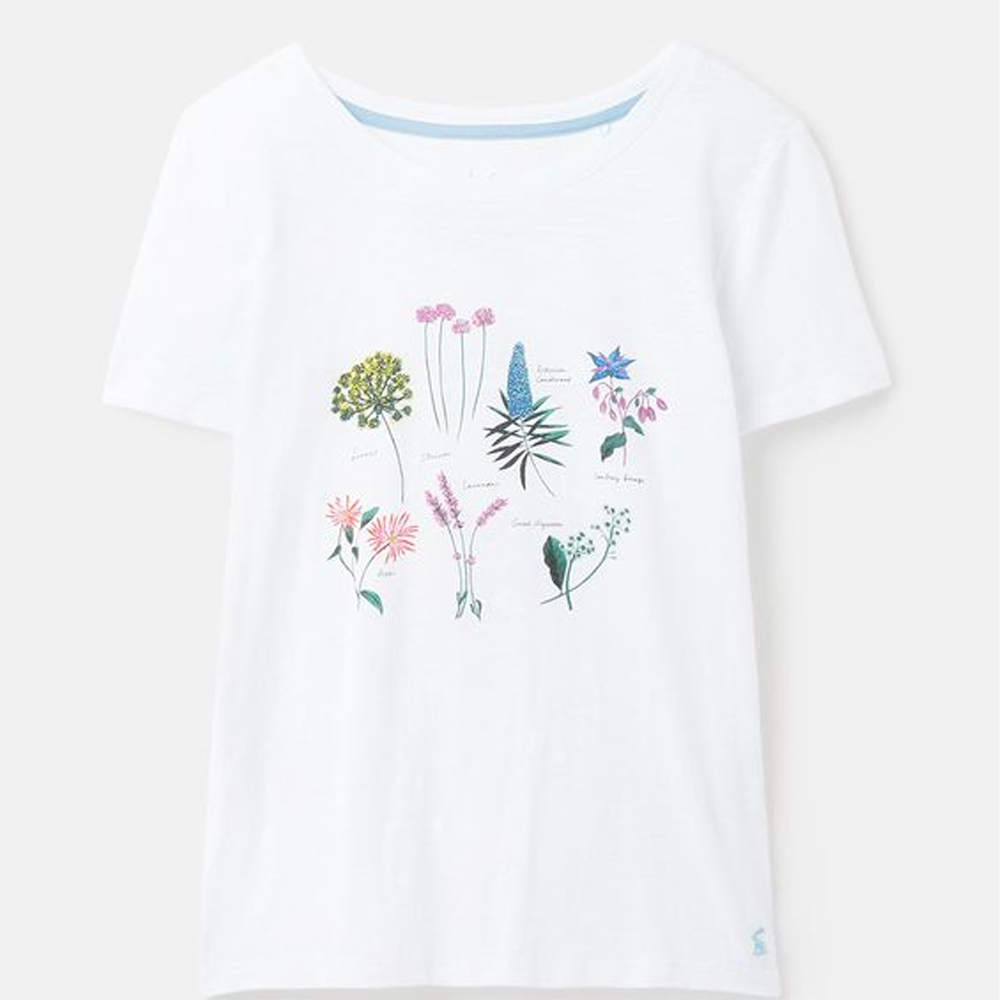 Joules Carley Print Classic Crew T-Shirt