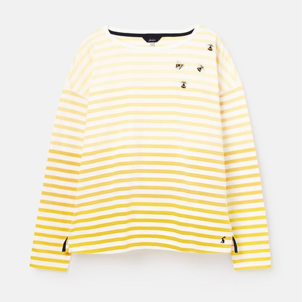 Joules Marina Emb Dropped Shoulder Jersey Top