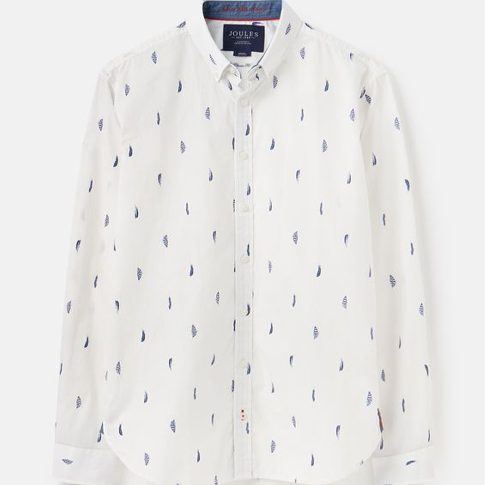 Joules Invitation Classic Fit Printed Shirt