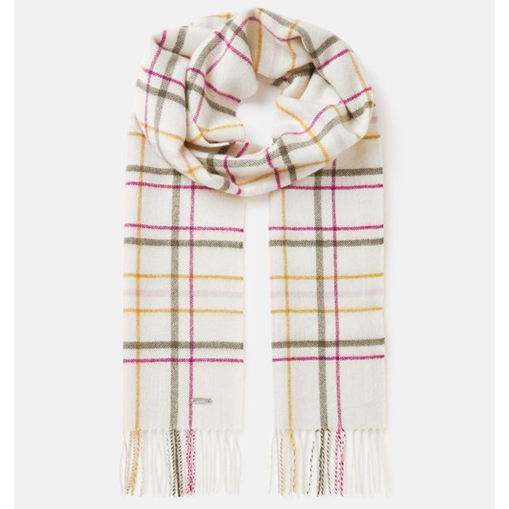 Joules Fairwell Checked Wool Scarf