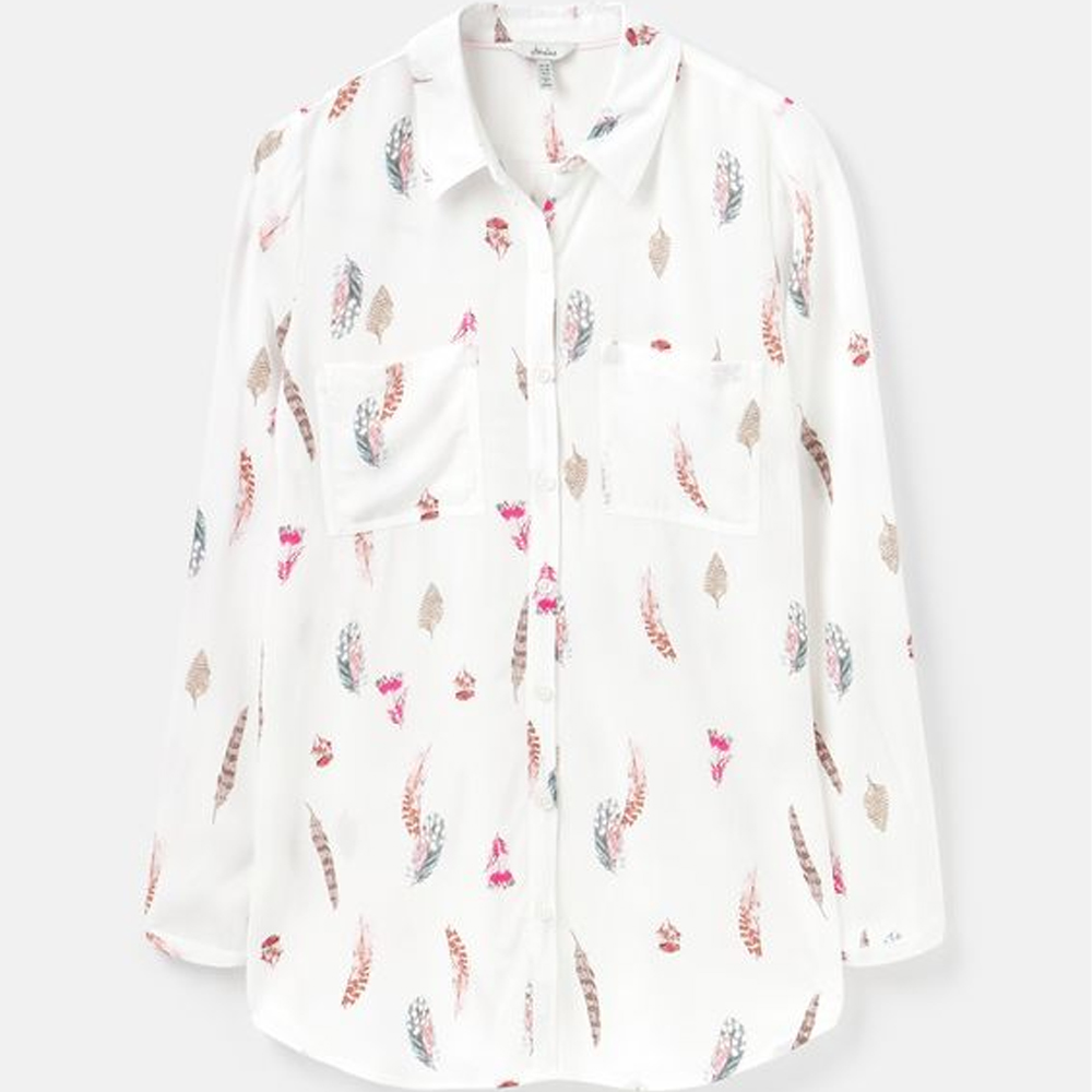 Joules Elvina Button Through Blouse With Patch Pockets