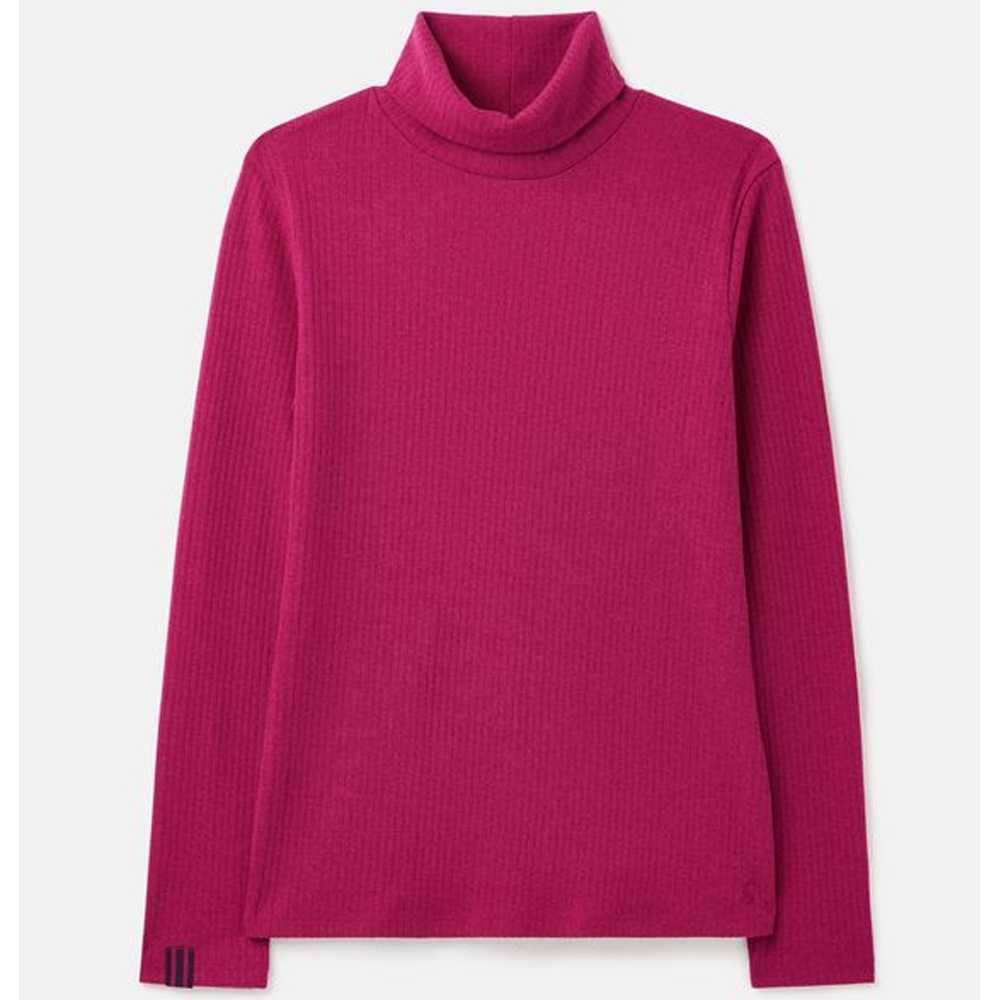 Joules Clarissa Solid Roll Neck Jersey Top