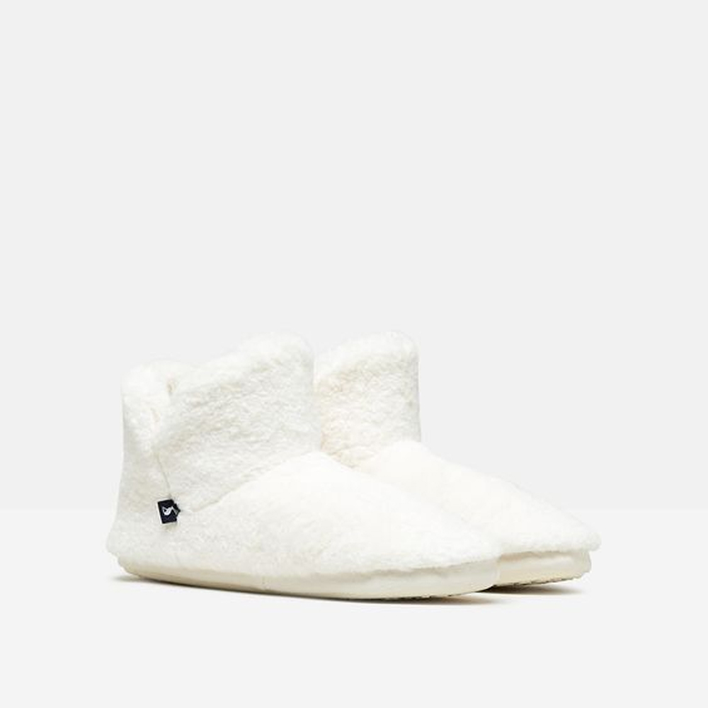 Joules Cabin Luxe Faux Fur Lined Slipper With Rubber Sole