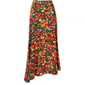 Joe Browns Autumnal Floral Skirt Green