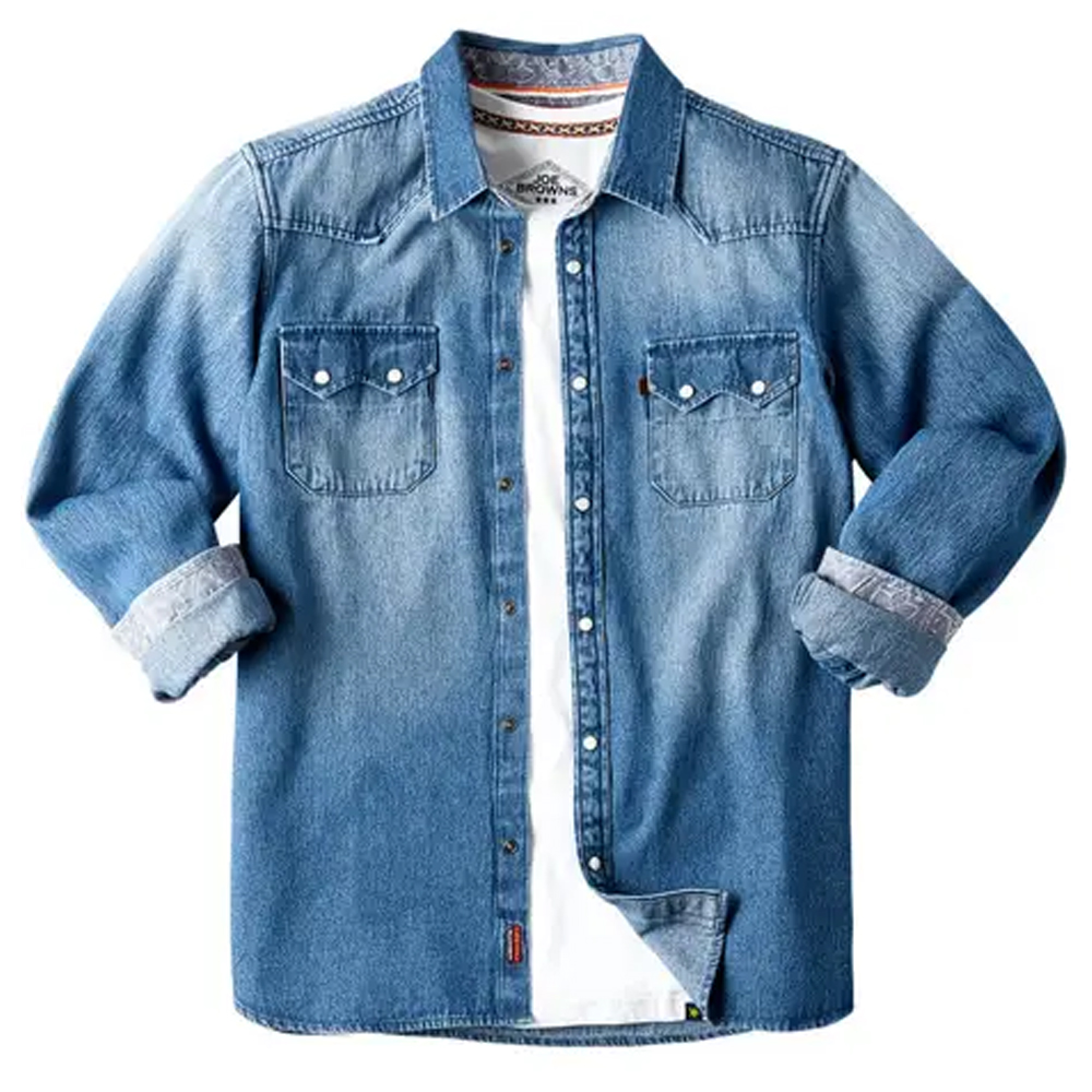 Joe Browns Loved And Lived In Denim Shirt